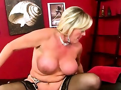 Mature Blonde Gets A sister brother cop Cock