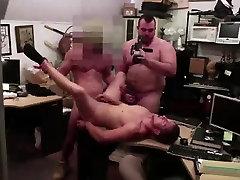 Gay dudes ass fuck amateur for cash in pawn shop office