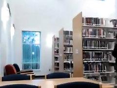 Ebony teen Masturbation In Library