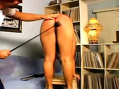 Brunette Is Given A Caning