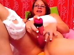 Fat Latin Woman Masturbates