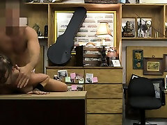 Brunette moves in 1hyr And Face Fucked On Pawn Shop Desk