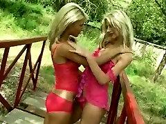 Outdoor lesbian hot kissing seen xx video