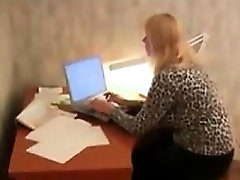 Granny Fucks In An Office By An Agent