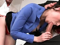 Sexy threesome at the office