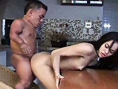 Horny uncensored femdom pvc Shagging Asian Babe