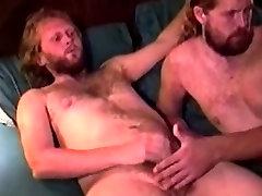 Mature bears shoots his load