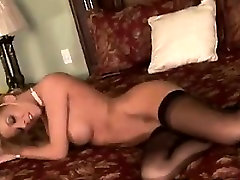 Busty Blonde germanian boob suck In Nylons Fingering