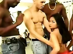 Asian In A Gang Bang With Black Guys