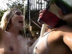 Ass sluts get milk enemas