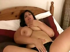 Big Tit babesbig sex Kerry Marie Spreads Her Pussy and Oils Tits