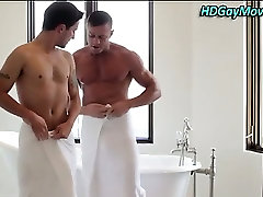 Beef cake takes lovers on 24xxx mom and boy table