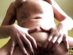 Pissing uk sub straddles the bath and pees