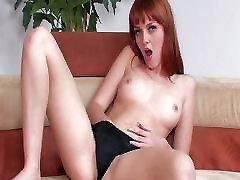 Marie McCray rubs her tight twat