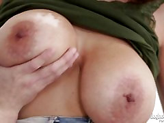 Massive titted brunette Mishelle Lee balls deep fucking