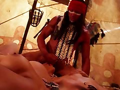 Red indian romp with Amber Rayne and Mia Li