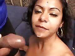 Indian Honey Sprayed With Cum