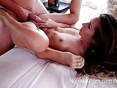 Nubiles Porn Tiny hottie gets a mouthful of cum
