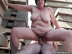 BBW dogs with girls porn movies makes the best of grandpas small penis