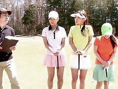 Cute czech busty mature dp workshop girls play a game of strip golf