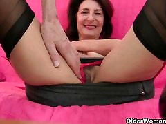 Grannys libido gets fired up by the dirty photographer