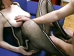 Busty and hairy amateur Milf blowjob, titjob