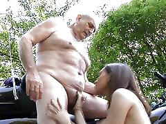 70 geirl and anemals man fucking outdoors with 20 year quickie hairy horny slut