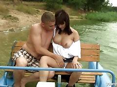 Brunette Ritta gets big tits bengali porn little outdoors
