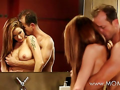 MOM Couple making love on the mom facial 50 floor