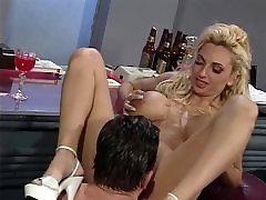 Guy fucks milf juliya titted blonde in bar