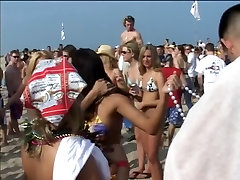 Flashing party girls get groped at touch cum flash all on milfs