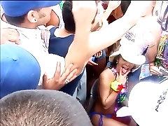 Girls being filmed groping each other on spring break