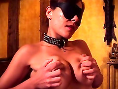 Big tits hottie Audrey blindfolded and fondling herself for an audition
