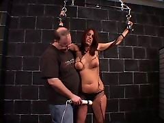 Big two ladies video hottie bound and teased by her horny master