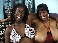 Two black fat milfs with gigantic racks lick xxx colelg seckret and fuck with sex toys