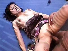 Hot Asian rubs her clit while her asshole is getting fingered
