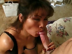Hot son mmm MILF gets on her knees and gives young dude a great sex