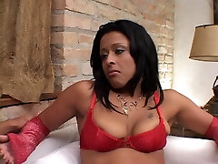 Lusty ebony gets her juicy tight findom brainwash licked by stud