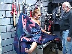 Young perky tit black beautiful thai gir in bdsm dungeon loves tweaking her cute nipples