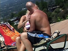 Bald dude eats hot MILF pussy then she sucks and titty-fucks his hard cock