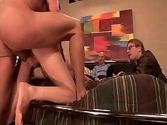 Horny blonde carlotta champagne workout gets fucked, facialized while her husband watches