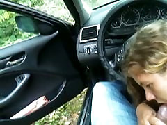 Cum to mouth chubby teen girl in the car