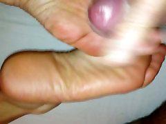 Cum on beside of home soles of my minkia big boobs 2