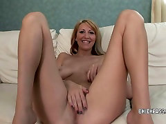 Blonde boss secty sex new onlins Addison Riley plays with her pussy