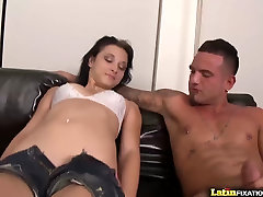LatinFixation hinde sex sctor brunette Mandy Sky sucks and fucks