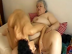 OMAPASS Skinny mature fucking with lesbian valery summers in tagteam action granny