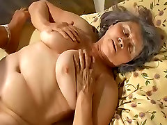 Old granny fuck with pregnant lesbian sweet girl