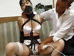 Bound Asian In sex mom japanese in kitchen Toyed In Panties