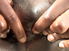 Sexy Chocolate big ass shamale threesome Wants Big Toy In Ass