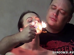 Gruesome fire torture of Emily X in extreme dungeon dominate